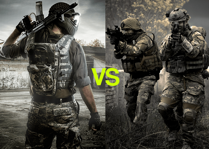 Airsoft vs paintball which hurts more